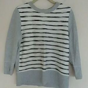 3/$18 LOU & GREY striped cotton sweater